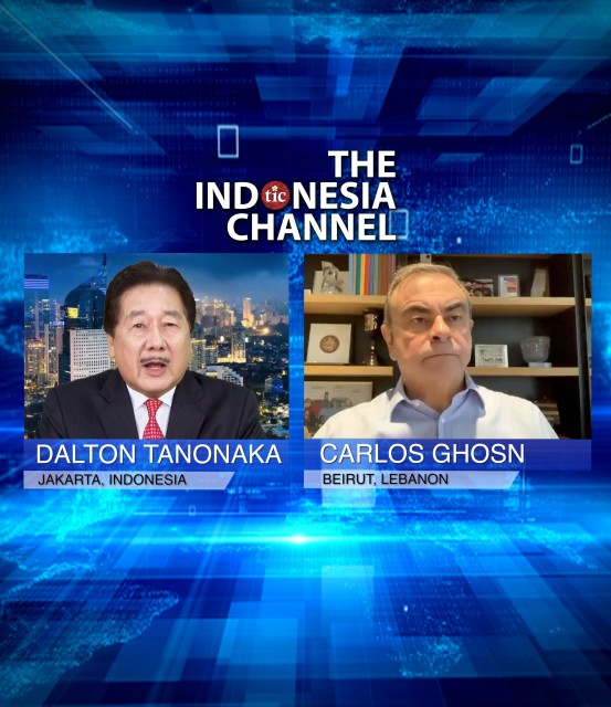 FUGITIVE CARLOS GHOSN IN EXCLUSIVE INTERVIEW WITH DALTON TANONAKA OF THE INDONESIA CHANNEL