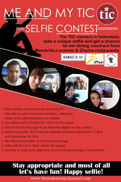me and my tic selfie contest the indonesia channel